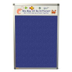 Aluminium Frame Polycolour Notice Board with Title Plate
