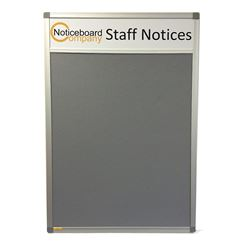 Aluminium Frame Cara Notice Board with Title Plate