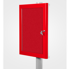 Lockable Post Mounted External Notice Board