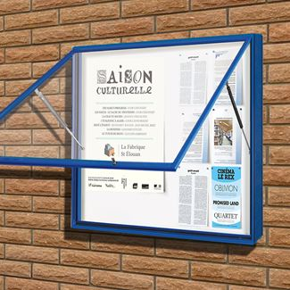 Poster Case 1000 External Notice Board - Painted