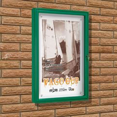 Poster Case 2000 Wall Mounted - Powder Coated Frame