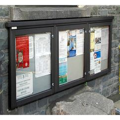 Recycled Triple Bay Wall Mounted Board