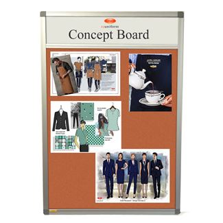 Slimline Forbo Notice Board with Title Plate