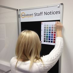 Slimline Cara Lockable Notice Board with Title Plate