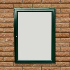 Tradition 30 External Notice Board - Green Frame - Holds 6 x A4