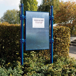 Urban Post Mounted External Poster Panel