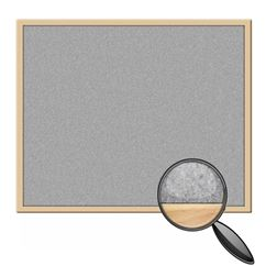 Solid Beech Framed Felt Notice Board
