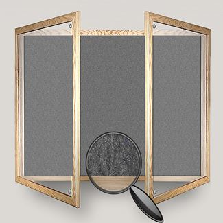 Wooden Framed Lockable Polycolour Notice Board