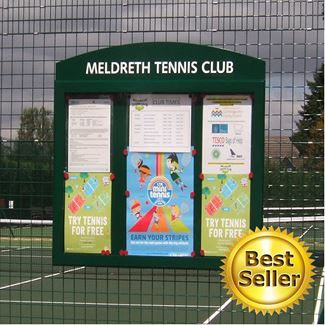 Breeze Rail Mounted External Notice Board
