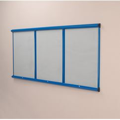 Colourway Fire Retardent Lockable Notice Board